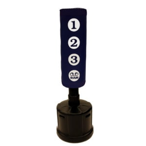 RAM C STANDING PUNCHING BAG WITH SCORING ZONES BLUE