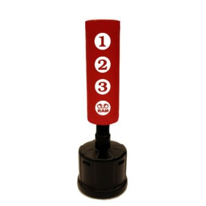 RAM C STANDING PUNCHING BAG WITH SCORING ZONES RED